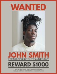 Black and White Target Wanted Poster