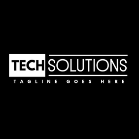 black and white tech logo