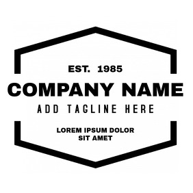 Black and white vintage logo