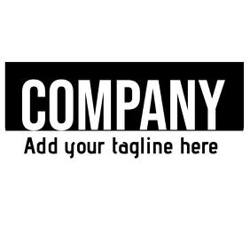 Black and white vintage logo