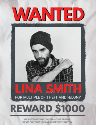 Black and White Wanted Poster