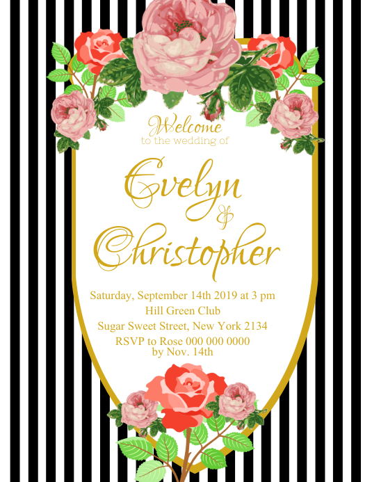 Black and White Wedding Flyer template
