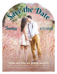 Black and White Wedding Invitation Save the Date Flyer