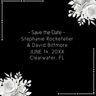 Black and White Wedding Save the Date Logo template