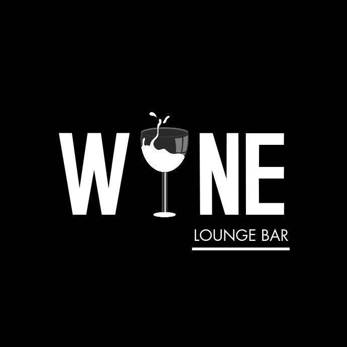 black and white wine bar logo template