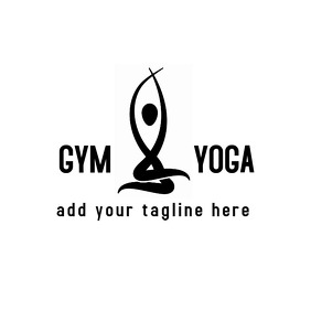 Black and white yoga logo