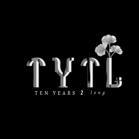 Black and WhiteTie-Dye Ten Years 2 Long Logo template