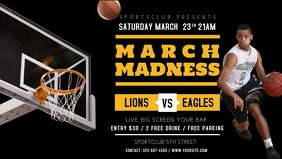 Black and Yellow Basketball Match Screening Facebook Cover V
