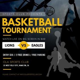 Black and Yellow Basketball Tournament Video