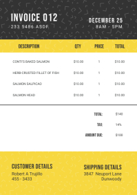 Black and Yellow Corporate Invoice