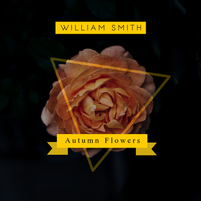 Black and Yellow Floral Album Cover