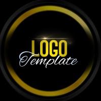 black and yellow logo design template Логотип
