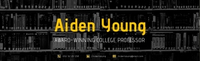 Black and Yellow Professor LinkedIn Career Co template