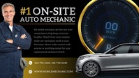 Black Automotive Facebook Cover Video template