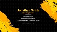 Black Background & Brush Effects Business Car Tarjeta de Presentación template