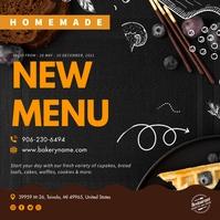 Black Bakery New Menu Ad Instagram Image template
