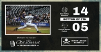 Black Baseball Scoreboard Facebook Post Templ template