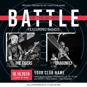 Black Battle of the Bands Square Video template