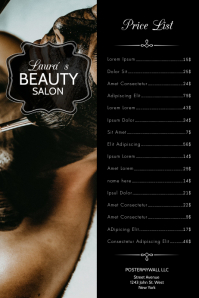 Black Beauty Salon Price List