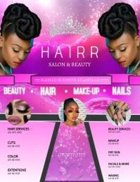 Black Beauty Video Flyer template