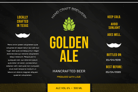 Black Beer Bar Label Tatak template