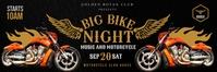 Black Bike Night Event 2'x6' Banner Template