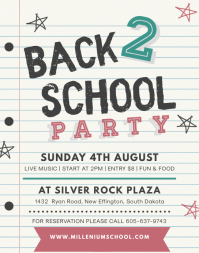 Black Board School Party Flyer