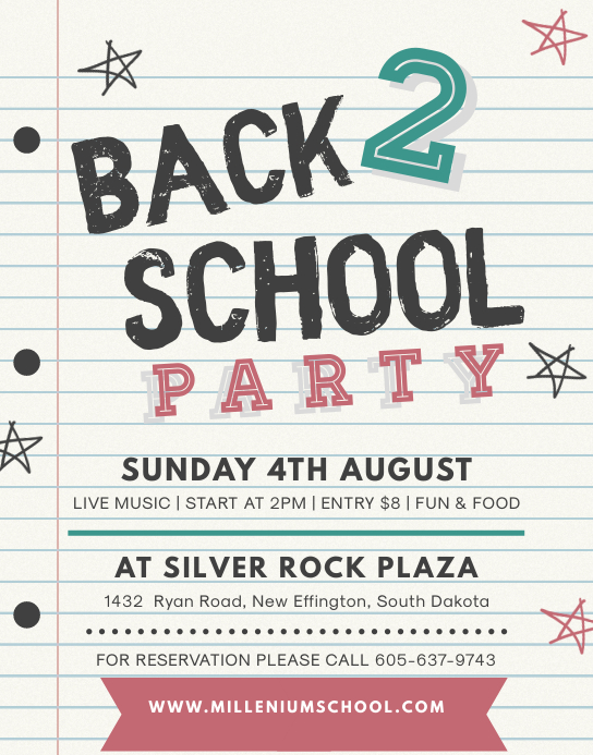 Black Board School Party Flyer Poster/Wandzeitung template