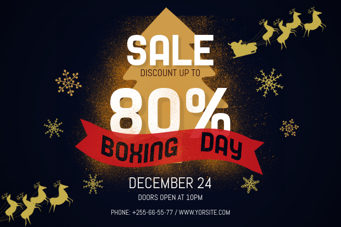Black Boxing Day Landscape Poster Plakat template