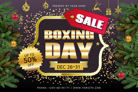 Black Boxing Day Sale Landscape Poster template