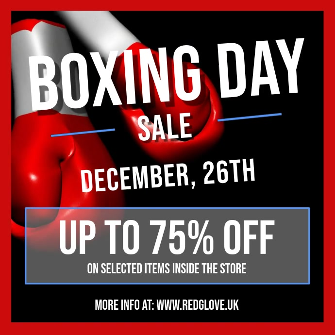 Black Boxing Day Sale Square Video