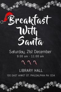 Black Breakfast With Santa Template