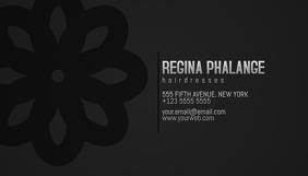 black business card template Visitenkarte