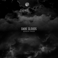 Black CD Album Cover Clouds Dark Moon Video Square (1:1) template