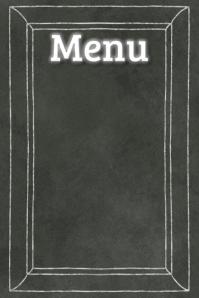 Black Chalkboard Menu Board Poster Bar Restaurant Flyer