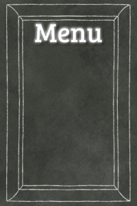 Black Chalkboard Menu Board Poster Bar Restaurant Flyer template