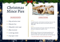 Black Christmas Recipe Card A4 template