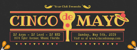 Black Cinco de Mayo Event Invitation Banner