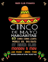 Black Cinco De Mayo Party Template