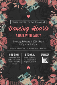 Black Daddy Daughter Dance Poster