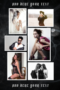 black dark photography photo collage poster template