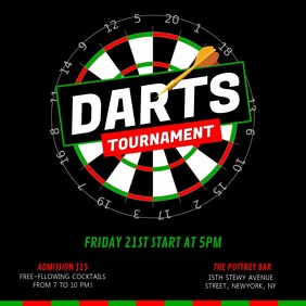 Black Dart Tournament Square Video