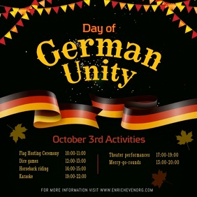 Black Day of German Unity Event Square Video