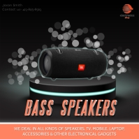 Black design speaker sale template Instagram Post