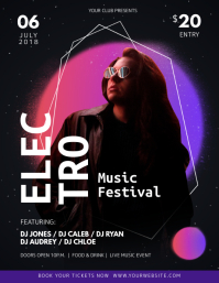 Black Electro Music Festival Flyer
