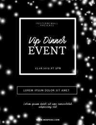 Black Event Banquet Flyer Template
