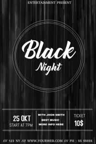 Black event flyer template