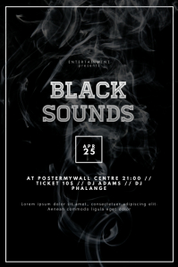 Black Event Party Flyer Template