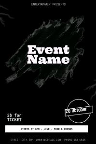 Black Event Flyer Template