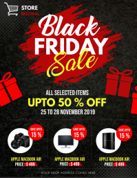 black friday, black friday sale Рекламная листовка (US Letter) template